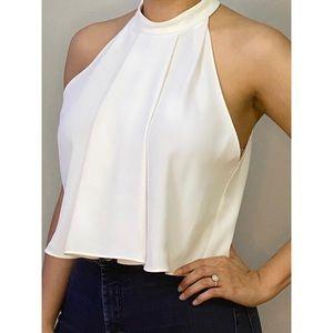 Zara Woman White Halter Top